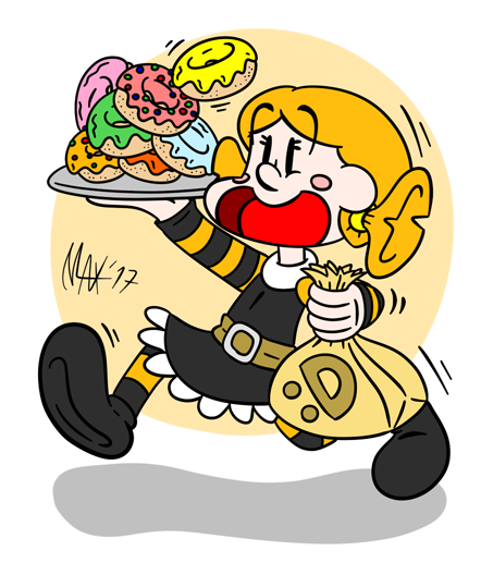 Donut girl by megawackymax