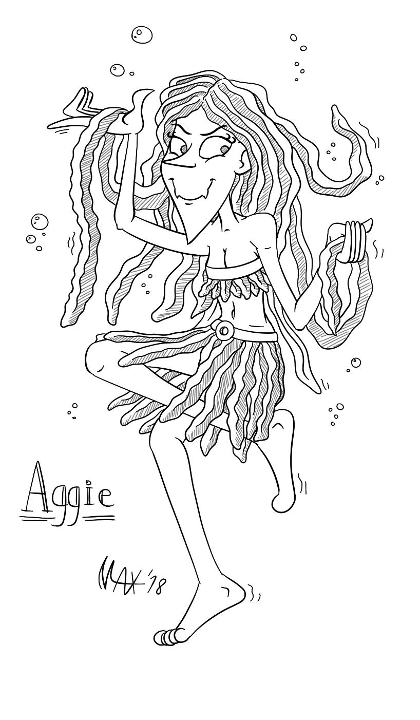 Aggie the Algae Queen by megawackymax