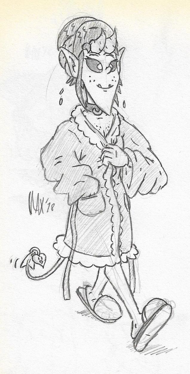 SKETCH - Bath robe by megawackymax