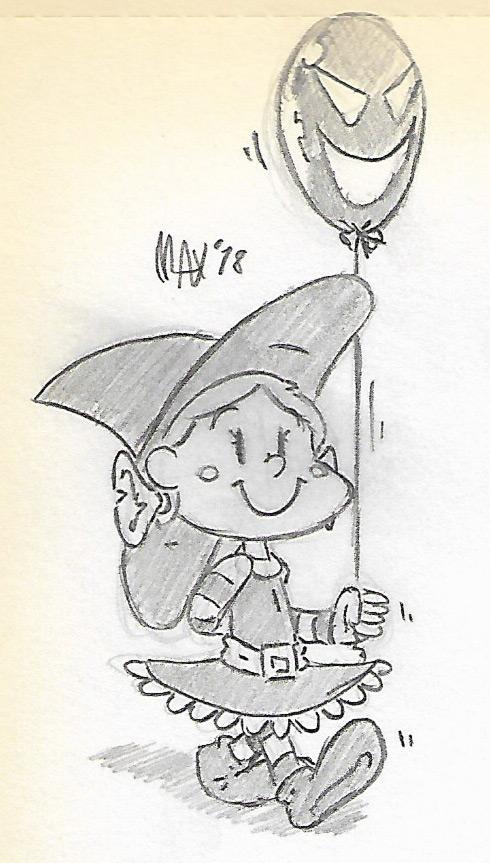 SKETCH - Spooky balloon by megawackymax