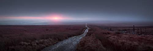 Barren moorland landscape by TristanCampbell