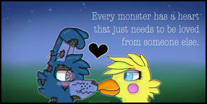 I Every Monster Has A Heart I by Sleepy-Winq