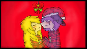 | Under The Mistletoe | Christmas Gift 1 | by Sleepy-Winq