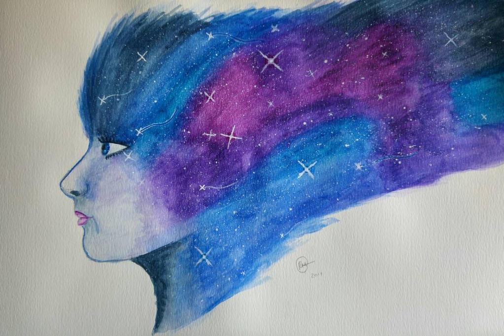 Galaxy Portrait by HopeDragon