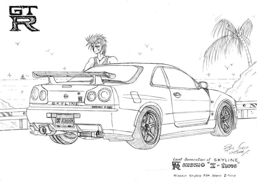 Nissan Skyline R34 Z Tune By Cefiros On Deviantart