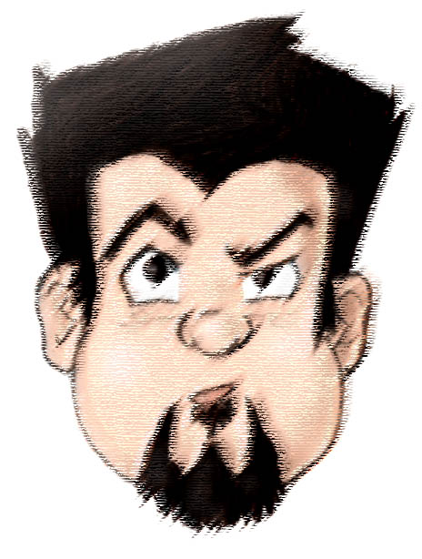 Cartoon self-portrait by Tenzhi