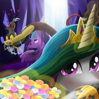 Celestia and Discord by seer45
