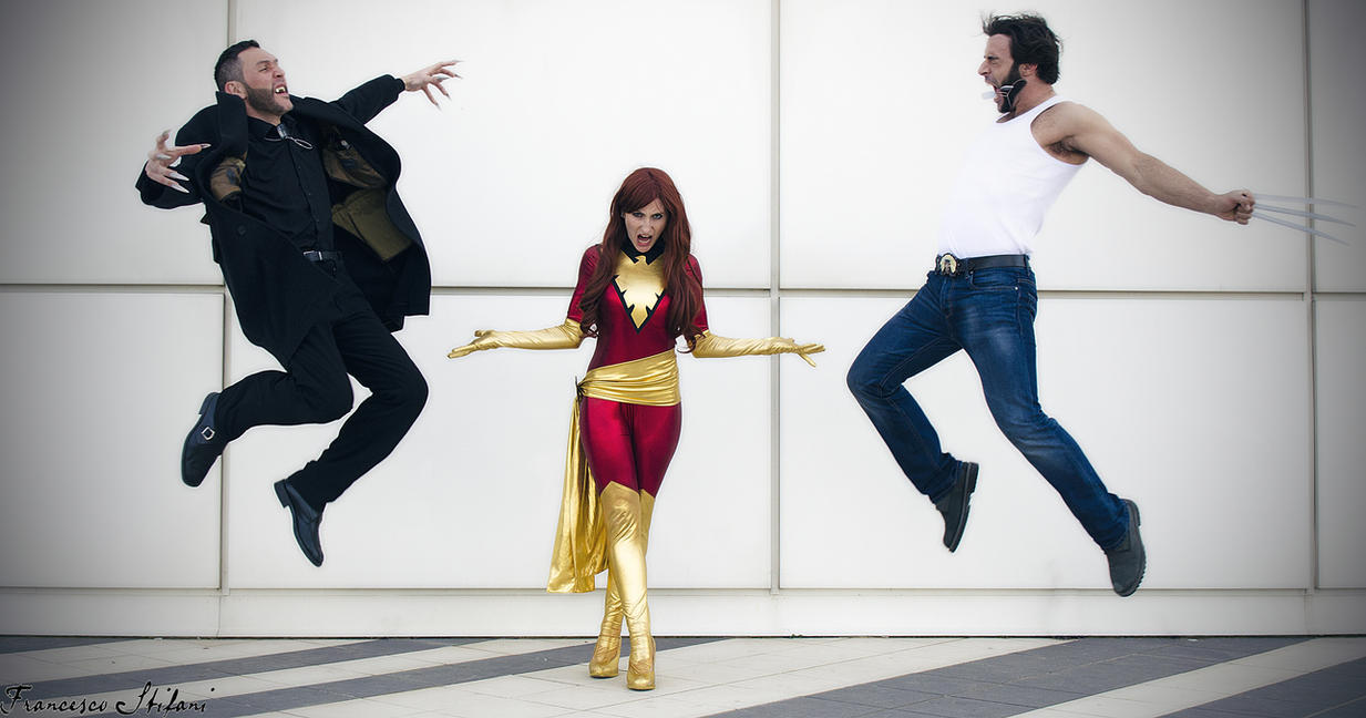 Dark Phoenix with Wolverine and Sabretooth by pchanFM