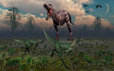 T Rex Terror by MasPix