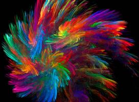 Brush Strokes Explosion by MasPix