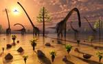 Omeisaurus Sauropod Dinosaurs.