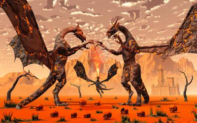 Lava Dragons. by MasPix