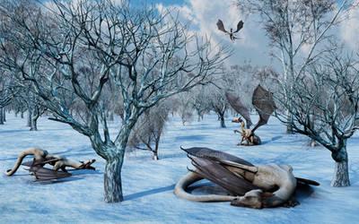 Ice Dragon Family. by MasPix