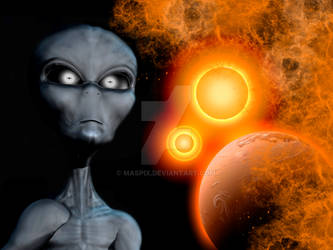 A Grey Alien From The Zeta Reticuli Star System.