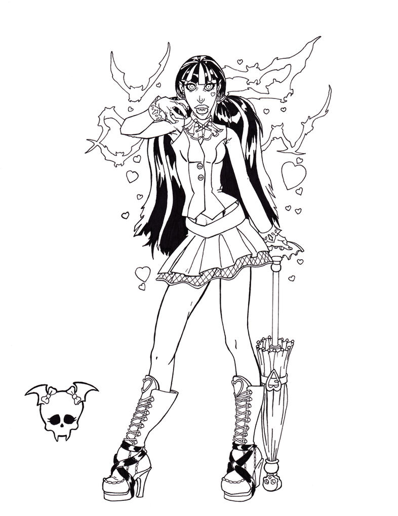 My little pony halloween coloring page - Monster_high_draculaura_by_shinmusashi44 D2y7ff4 Monster High Draculaura By Shinmusashi44 On Deviantart On Universal Monsters Color