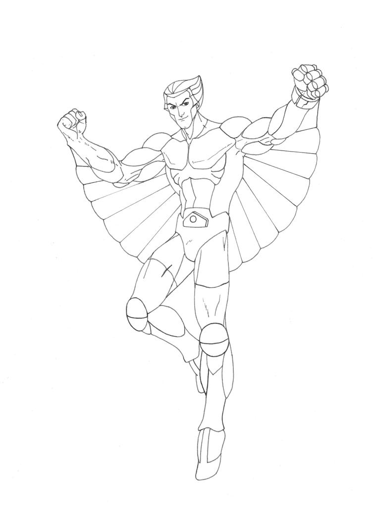Quicksilver Coloring Pages : Quicksilver silverhawks inks by shinmusashi on deviantart