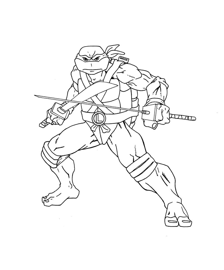 Leonardo TMNT inks by ShinMusashi44 on DeviantArt