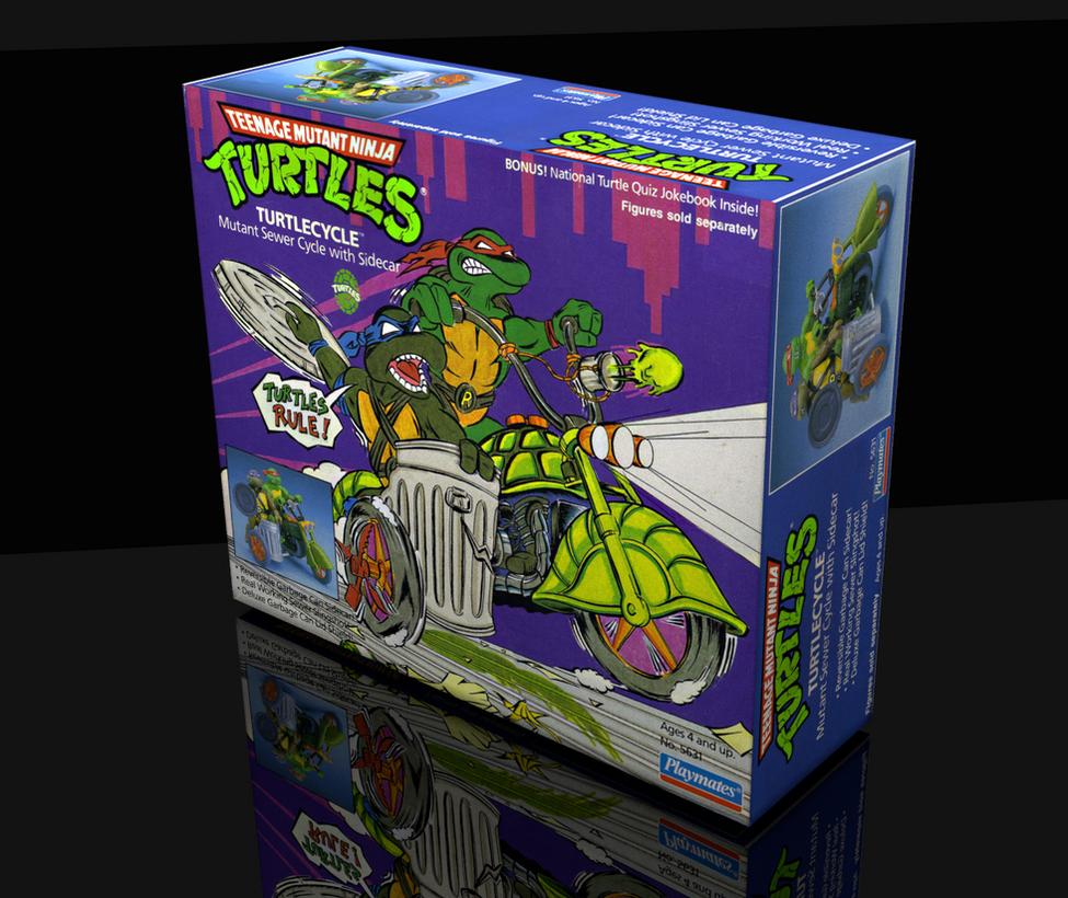 TMNT TurtleCycle box 3D by ShinMusashi44