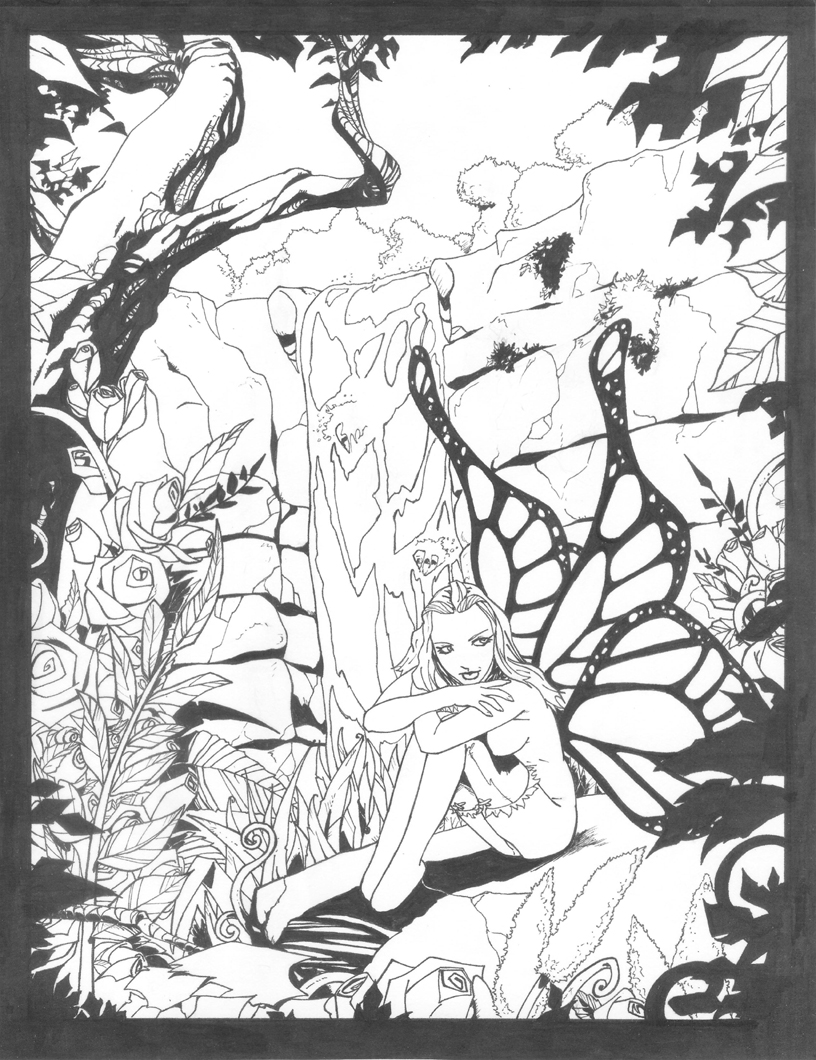 Forest Fairy Drawing Fairy forest by shinmusashi44
