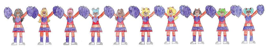 Bandicoot Cheerleaders by trexking45
