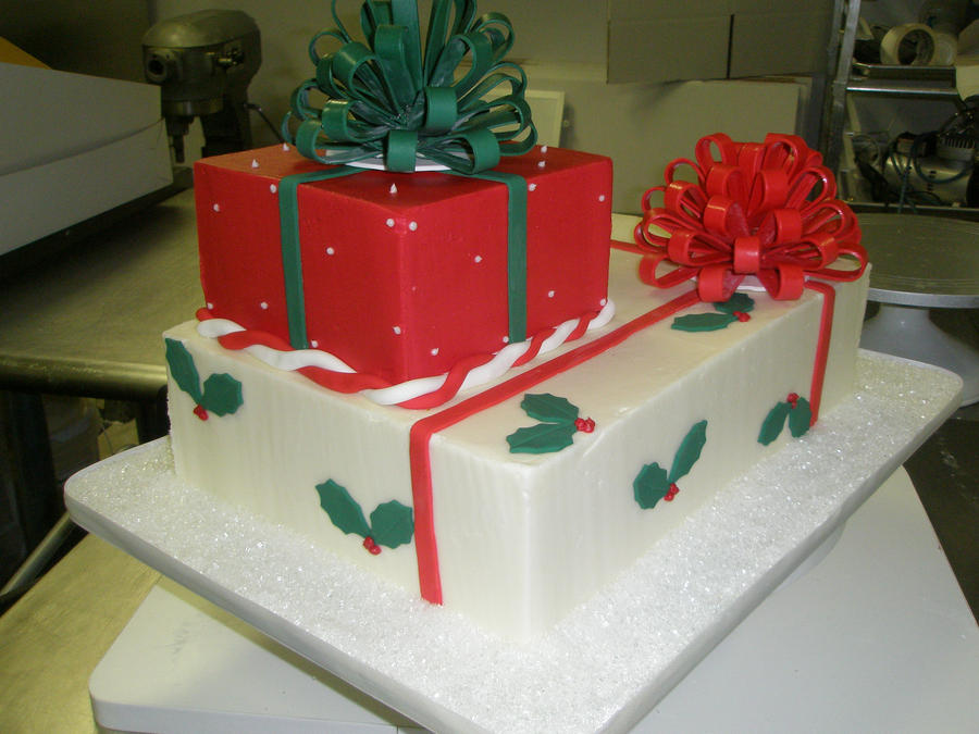 Christmas Cake Decoration Present : christmas present cake by ninny85310 on DeviantArt