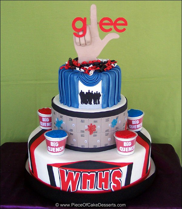 GLEE cake by ninny85310