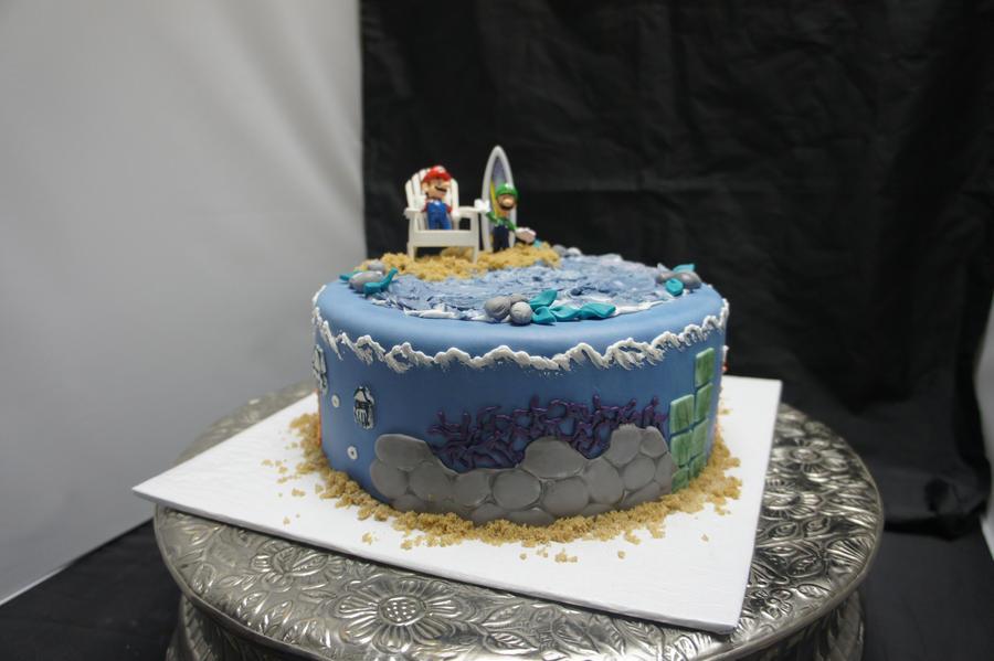 Mario cake by ninny85310