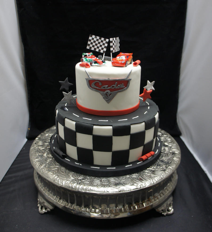 Cake With Fondant Cars : Cars cake round 2 by ninny85310 on DeviantArt
