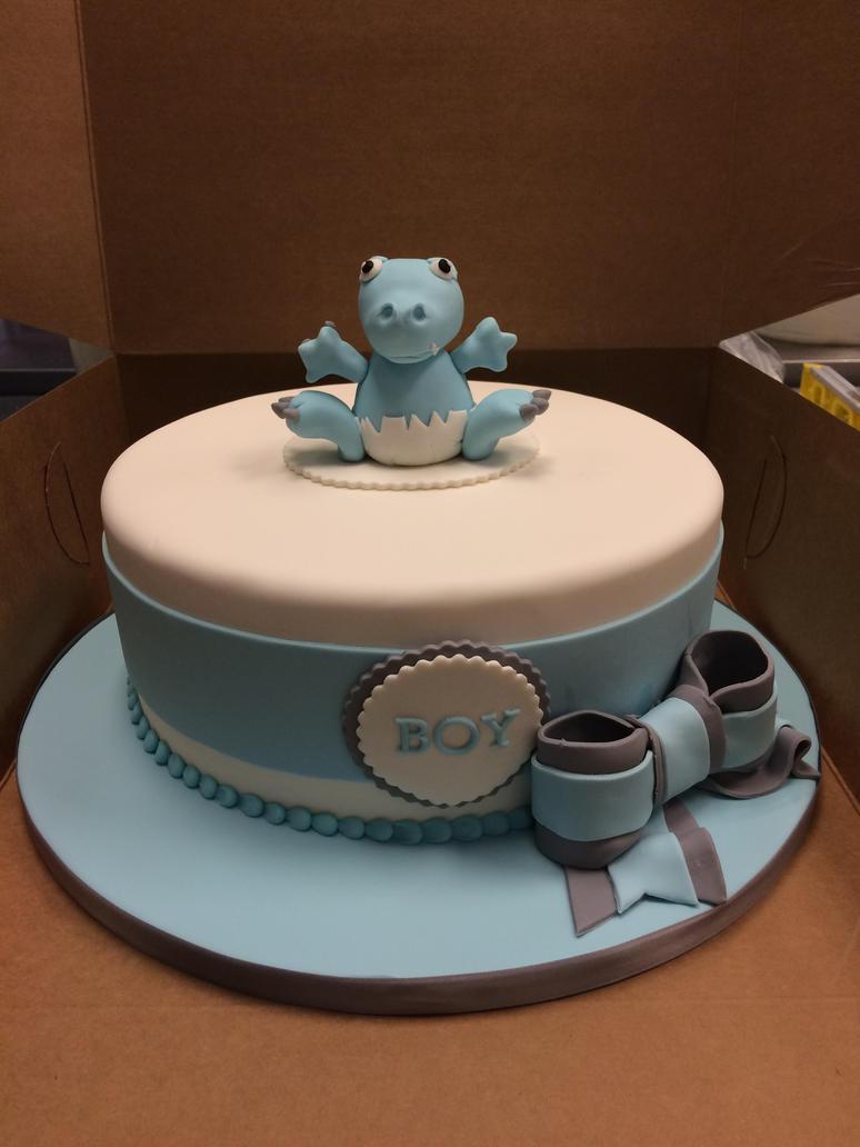 Dino Baby shower cake by ninny85310 on DeviantArt
