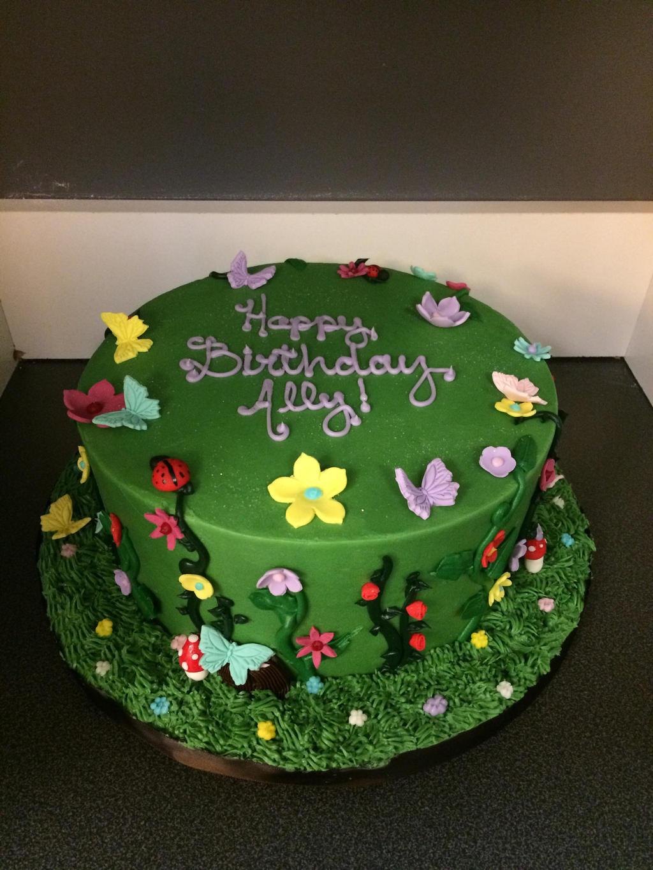 Garden birthday cake by ninny85310