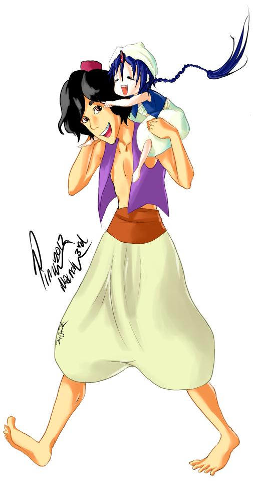 Disney Aladdin and Magi Aladdin by Voiii on DeviantArt Labyrinth Movie Wallpaper