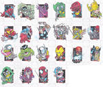 avengers sketchcards