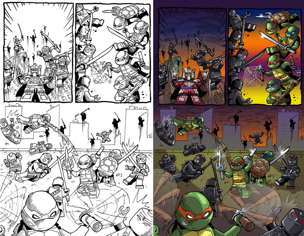 LEGO-TMNT-sample5 by BTURNERart