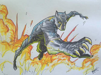 the Panther by BTURNERart