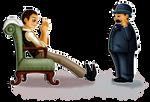 Sherlock Holmes Vs. Hercule Poirot by LordCyfe
