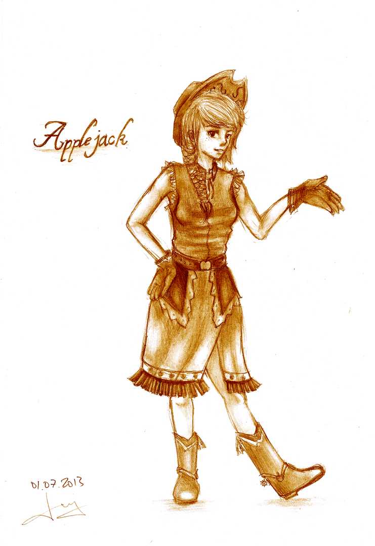 applejack gala dress by jenyeongi on deviantart