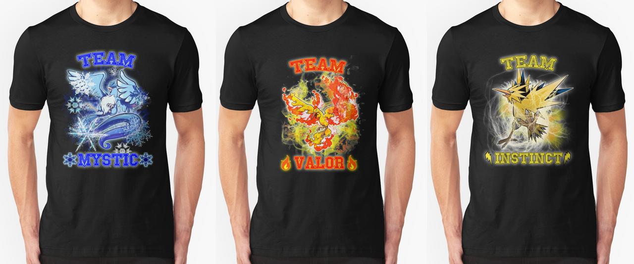 Pokemon GO Team Tshirts by JenYeonGI