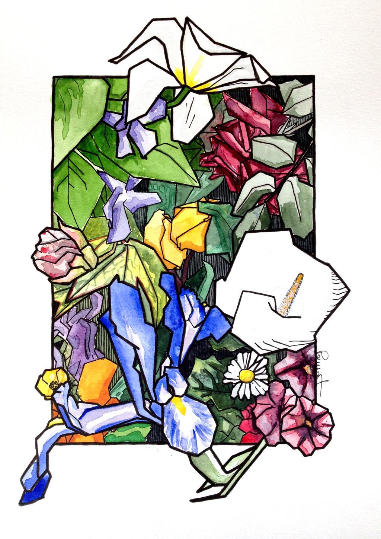 composition florale 1 by pouyat on deviantart. Black Bedroom Furniture Sets. Home Design Ideas