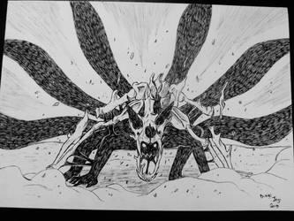 Naruto 6 tails by DiegoYojiJoji