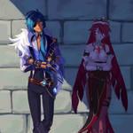 Kaeya and Rosaria