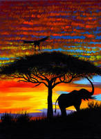 African sunset by Oladara