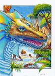 Water rainbow dragon