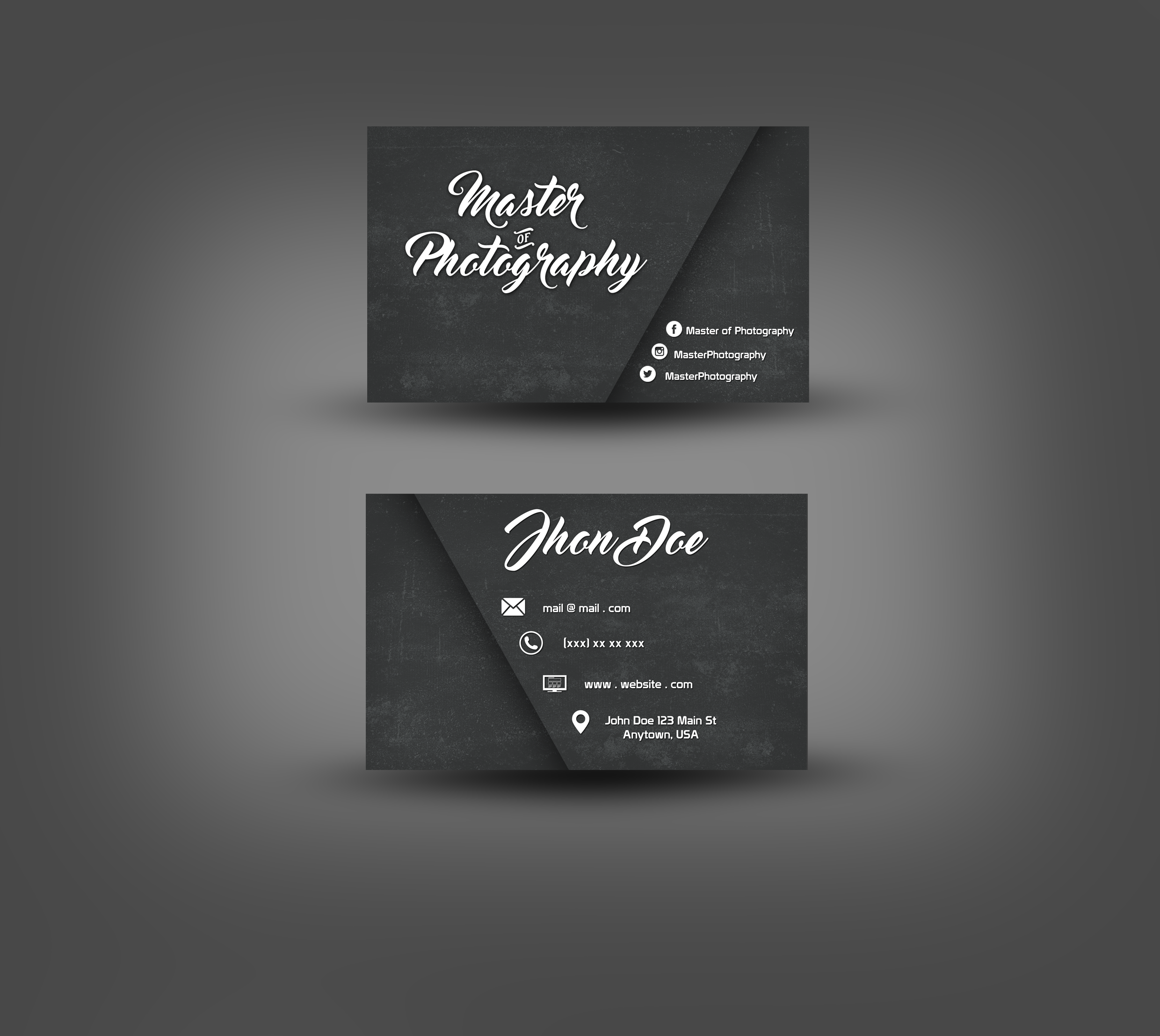 The Master of Photography Business Card by AmineDesigns on DeviantArt