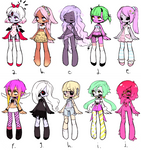 [batch 1 leftover sale] abc monster girl adopts