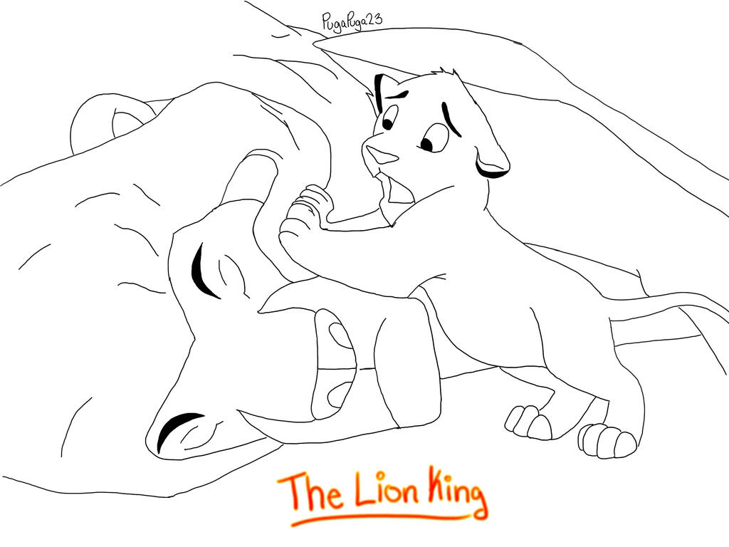 The lion king by pugapuga23 on deviantart for Lion king scar coloring pages