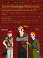 Shatered Vengeance Characters by candy-sugargirl