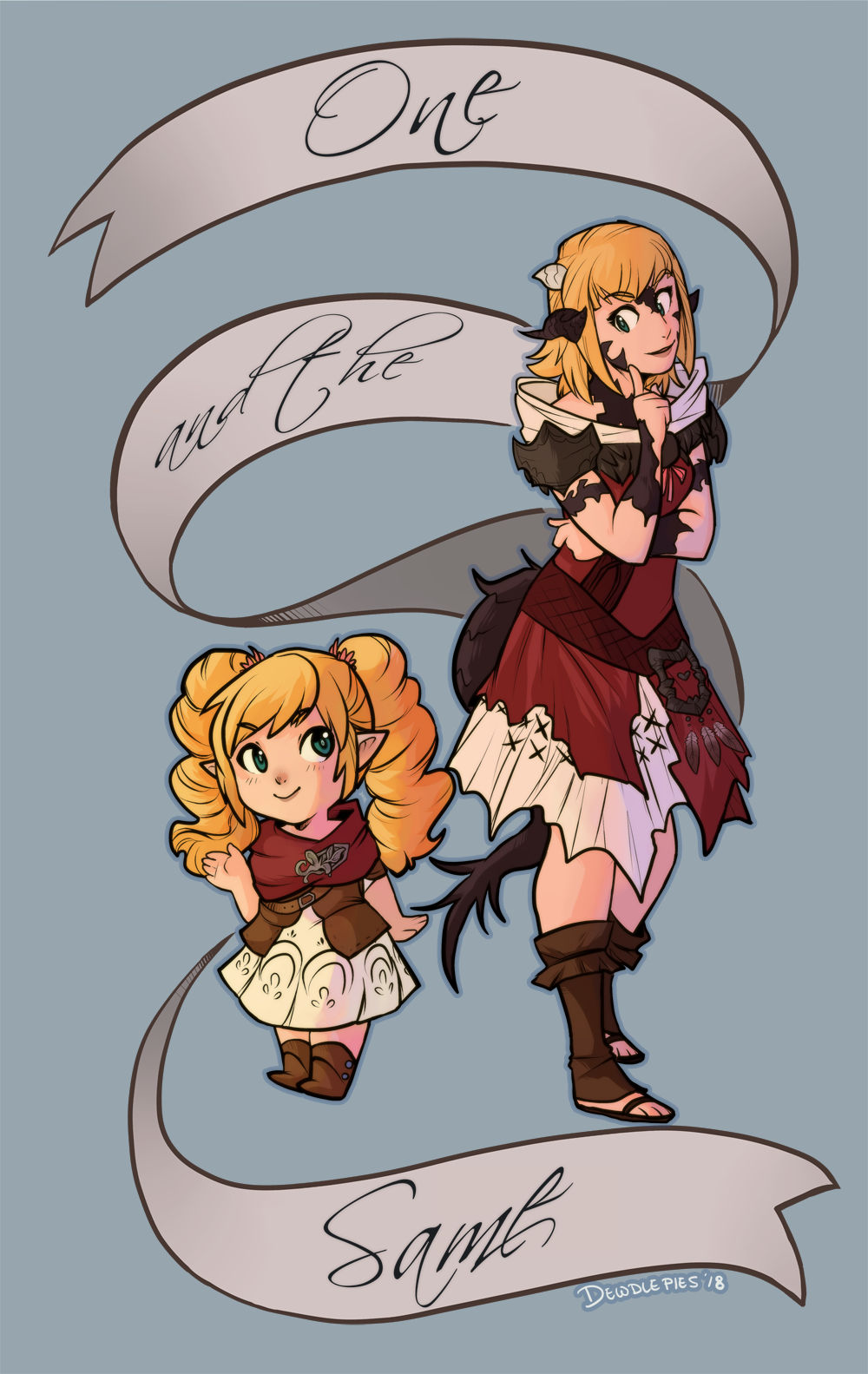 Lalafell Casey is Au Ra Casey by candy-sugargirl