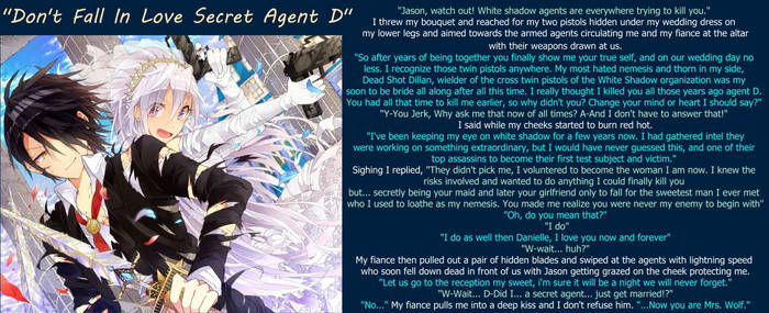 Dont fall in love secret agent D