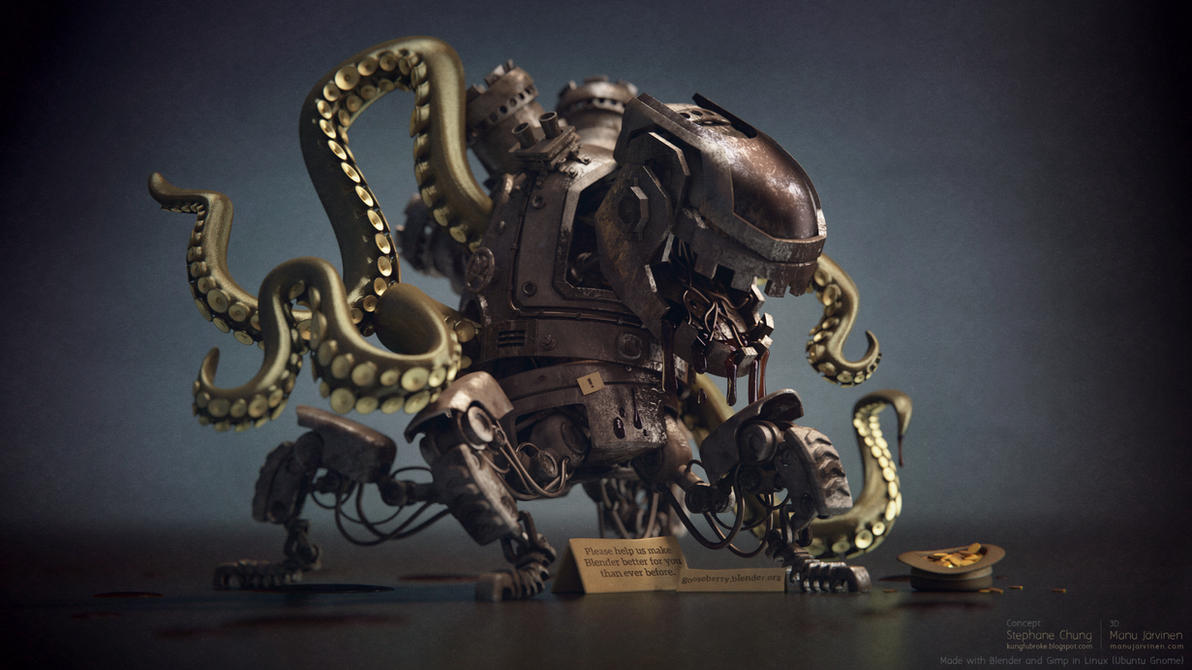 Octopus Robot Alien by maxon