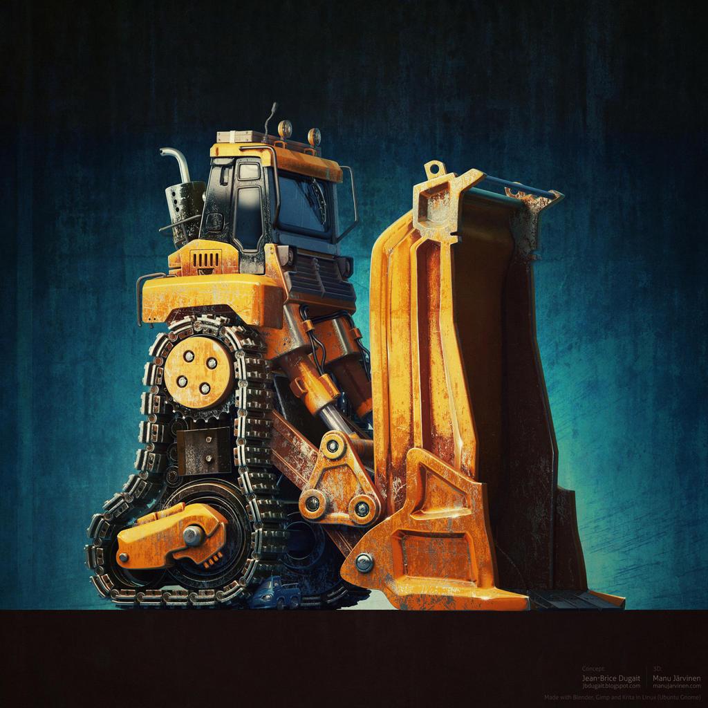 Bulldozer by maxon